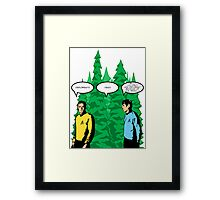 Captain's Confusion Framed Print