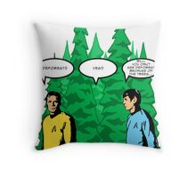 Captain's Confusion Throw Pillow