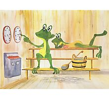All about Frogs 2, Sauna Photographic Print