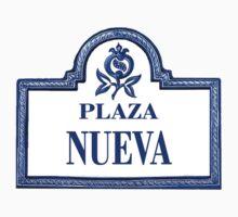 Plaza Nueva, Granada Street Sign, Spain Kids Tee