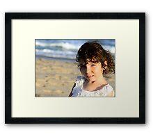 Addison on the beach Framed Print