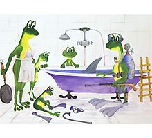 All about Frogs 7, Shark hunters Photographic Print