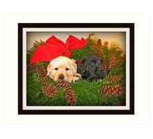 Christmas Wreath Art Print