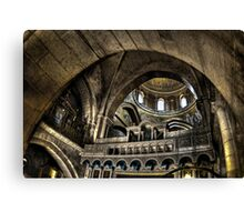 Israel, Jerusalem Old City, Interior of the Church of the Holy Sepulchre Canvas Print