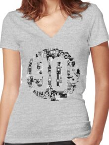 How to grow up in the 90s Women's Fitted V-Neck T-Shirt