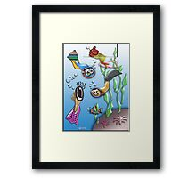 FISHOLOGY Framed Print