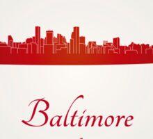 Baltimore skyline in red Sticker