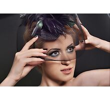 Retro Portrait of Lovely young woman Photographic Print