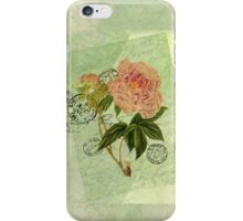 Decoupage peony iphone iPhone Case/Skin