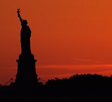 Liberty Sunset by AFPhotography