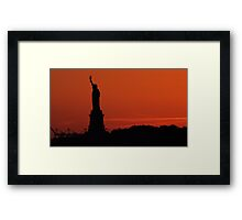 Liberty Sunset Framed Print