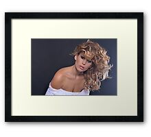 Stuning beauty in amazing portrait Framed Print