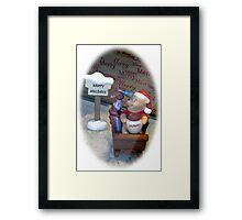 Winnie Christmas Framed Print