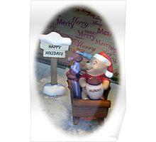 Winnie Christmas Poster