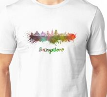 Bangalore skyline in watercolor Unisex T-Shirt