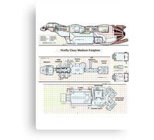 Serenity Firefly floorplan schematics Canvas Print