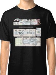 Serenity Firefly floorplan schematics Classic T-Shirt