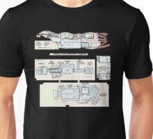 Serenity Firefly floorplan schematics Unisex T-Shirt