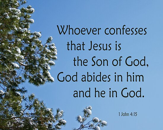 Jesus is the Son of God ~ 1 John 4:15 by Robin Clifton