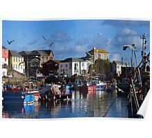Mevagissey port Poster