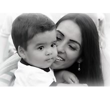 Mother & Son Photographic Print