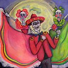 Calavera Mariachi and Dancers Serenade Under Full Moon by Candace Byington