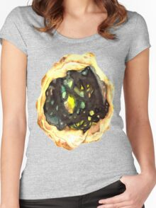 Watercolor Opal – October Birthstone Women's Fitted Scoop T-Shirt