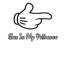 she is my princess Photographic Print