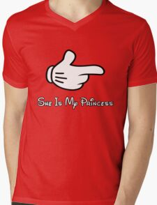 she is my princess Mens V-Neck T-Shirt