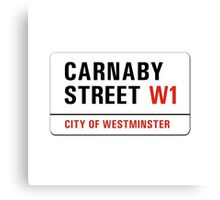Carnaby Street, London Street Sign, UK Canvas Print