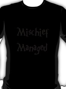 Harry Potter Mischief Managed Marauder's Map T-Shirt