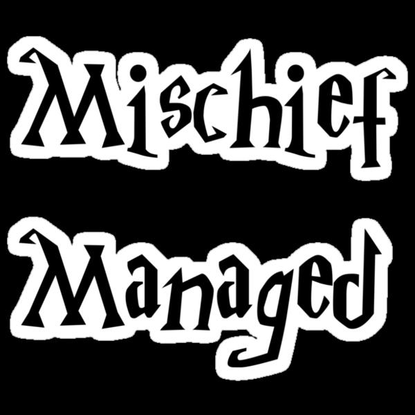 Harry Potter Mischief Managed Marauder's Map by cjcandhm