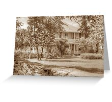 Old Plantation Style Property in Eastern Nassau, The Bahamas Greeting Card