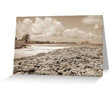 Beach in Paradise island, The Bahamas Greeting Card
