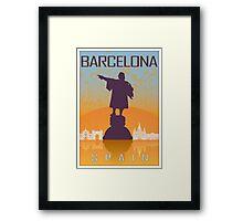 Barcelona vintage poster Framed Print
