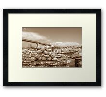Unloading bags of coal in Potter's Cay - Nassau, The Bahamas Framed Print