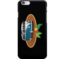 21 Window VW Bus Tuerkis w Bamboo Frame iPhone Case/Skin