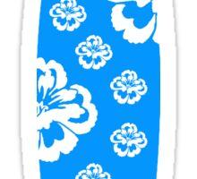 Surfboard White Flowers Sticker