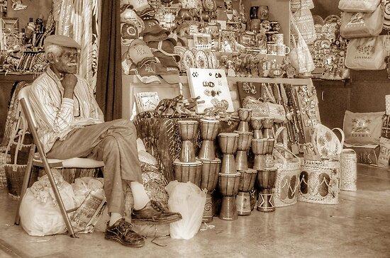 Straw Market Vendor in Nassau, The Bahamas by 242Digital