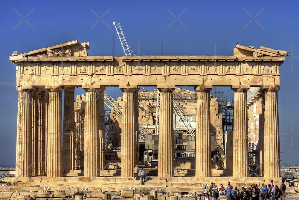 Heavy Lifting Gear in the Parthenon by Tom Gomez