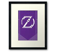 Omega Shift Logo - ZetaBoros Framed Print
