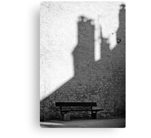 Bench in Perouge Canvas Print