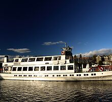 The Swan Steamer at Bowness on Windermere, Lake District by Steve