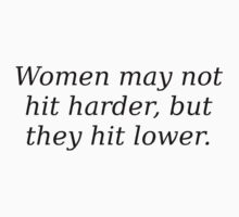 Women hit lower by codeslinger