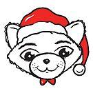 Merry Christmas Cat by Silvia Neto