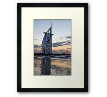 The 7 Star Burj Al Arab Hotel in Dubai Framed Print