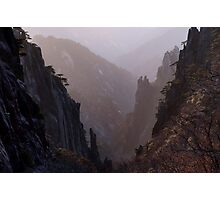 Sunrise on Huang Shan Photographic Print