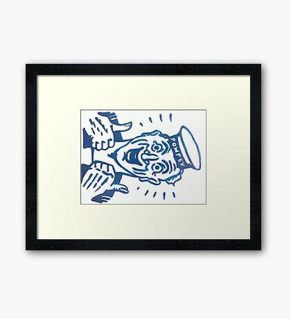 POMPEY SAILOR Framed Print
