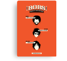 Bobs, ranked by hair neatness Canvas Print