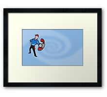 Telephone Repairman Worker Phone Framed Print